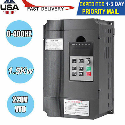 New 1.5kw 220v Variable Frequency Drive Inverter Vfd Single Phase To 2 Phase