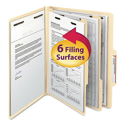 Smead Manila Classification Folders With 25 Right Tab Letter Six-section 10box