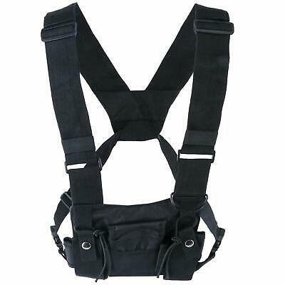Radio Chest Harness Front Pack Pouch Walkie Talkie Holster Vest Chest Rig Bag Us
