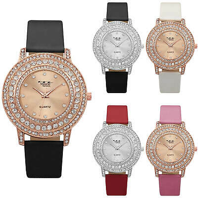 Milano Expressions Fashion Dress Watch Silicone Band Women Luxury Stone Case (Milano Ladies Fashion Watch)