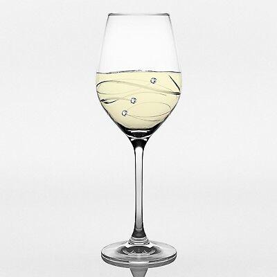 - Barski European White Wine Glass-w/ Swarovski Diamonds-12.5oz-Gift Box-Set of 4