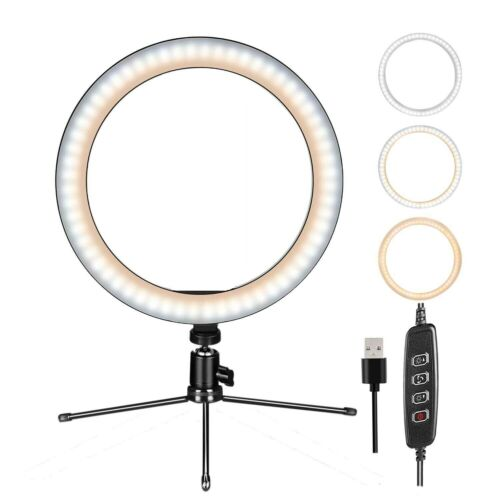 "10"" LED Ring Light w/Mount Stand Selfie Kit fo Phone Video Live Stream Broadcast"