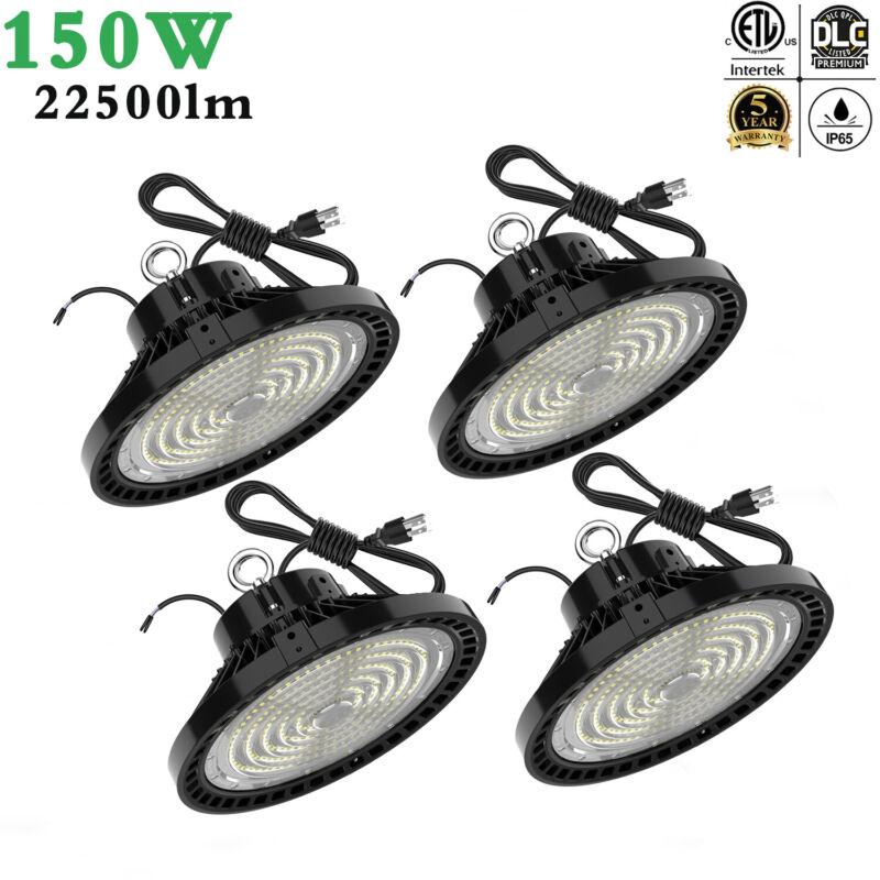 4PACK 150W UFO LED High Bay Lights 150Watt Commercial Warehouse Lighting 5000K