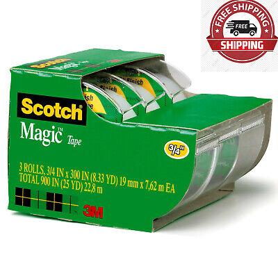 Scotch Magic Tape Stationary Dispense Clear 34 In. X 325 In 3 Dispenser