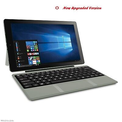 "Laptop - 2-in-1 Tablet Laptop 10.1"" Screen 32GB Intel Atom Quad-Core Processor Win 10 Slv"