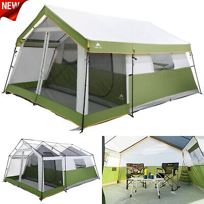 8 Person Instant Cabin Tent Family Camping Equipment Gear Sleeping Screen Porch for sale  Shipping to Canada