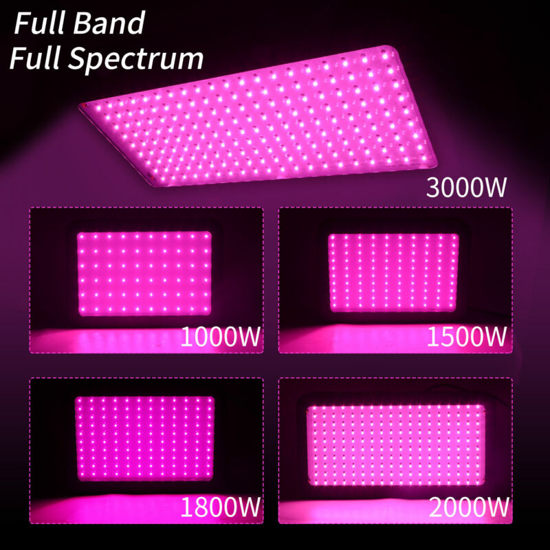 New 3000W 2000W 1800W 1500W 1000W LED Grow Lights Full Spectrum Indoor Plants Panel Unbranded NYG000045 for 39.99.
