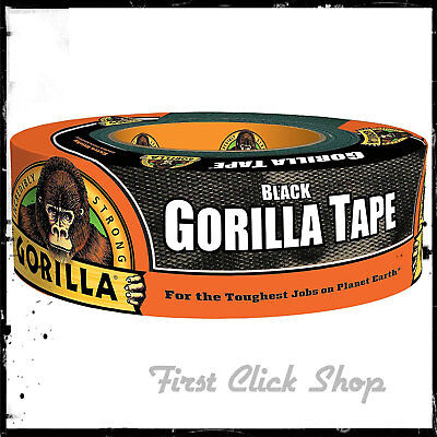 Gorilla Tape 1.88 In. X 35 Yd Black Heavy Duty Duct Tape Waterproof In Outdoor