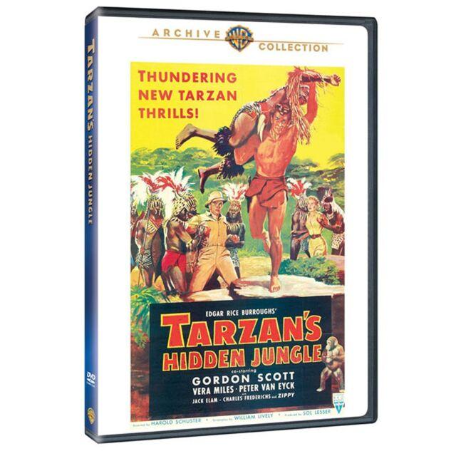 TARZANS HIDDEN JUNGLE - (1943 Gordon Scott) Region Free DVD - Sealed