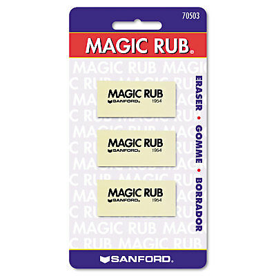 Prismacolor Magic Rub Art Eraser Vinyl 3pack 70503