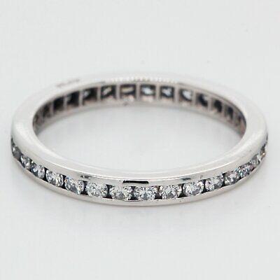 1/2 Quilates Diamante Eternidad Alianza Boda Platino