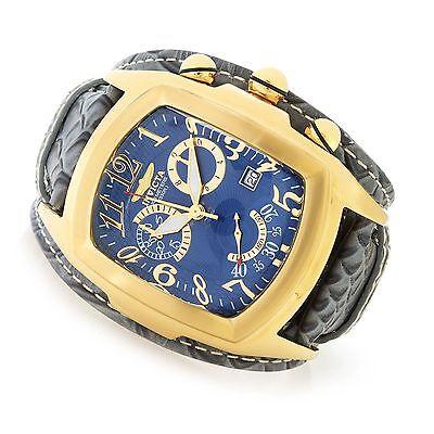 90266 Invicta Tonneau Dragon Lupah Swiss Quartz Chronograph Leather Strap Watch