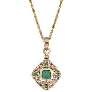 Vintage Emerald Necklace Ebay