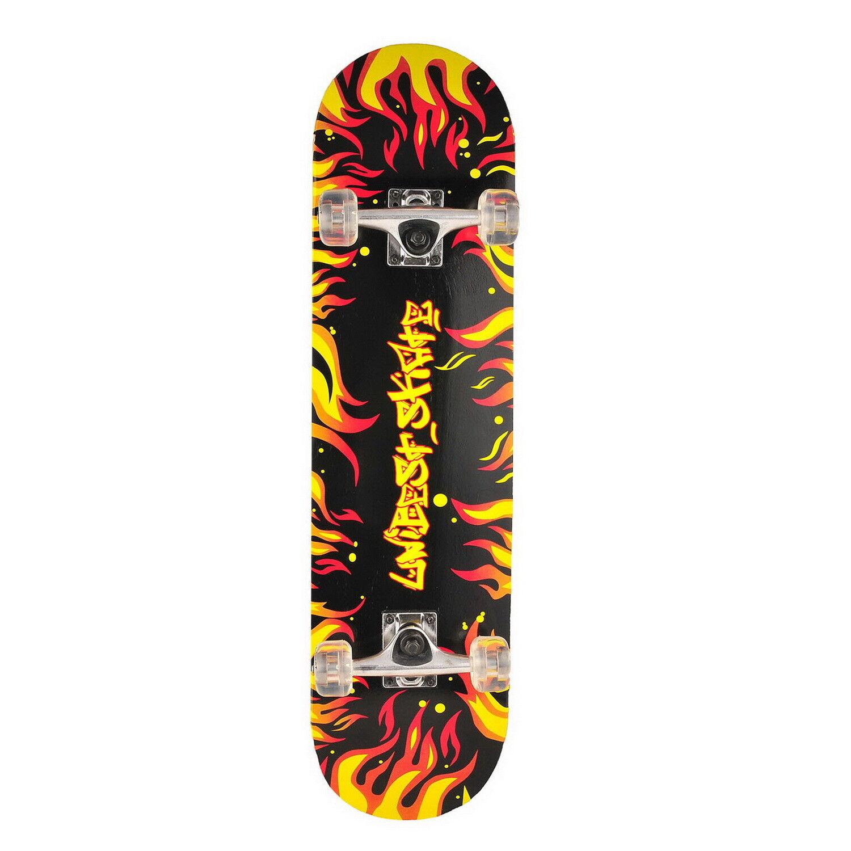 Skateboard Deck Funboard Holzboard komplett 80x20cm Ahornholz Auswahl 9 Motive G
