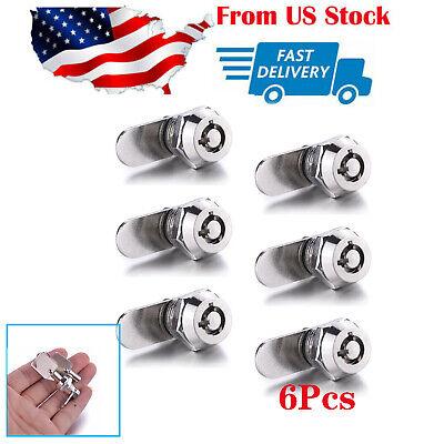 6pc Tubular Cam Lock 58 Cylinder 2keys Alike Pull Drawer Cabinet Toolbox Us