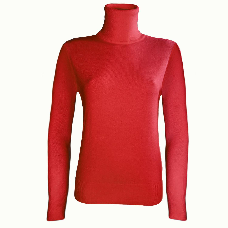 Damen Rolli Basic Rollkragen Pullover Pulli Strick Oberteil 38-44