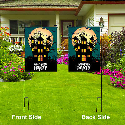 Halloween Party Garden Flag, Scary Double Sided Yard Lawn Outdoor Decor Flag