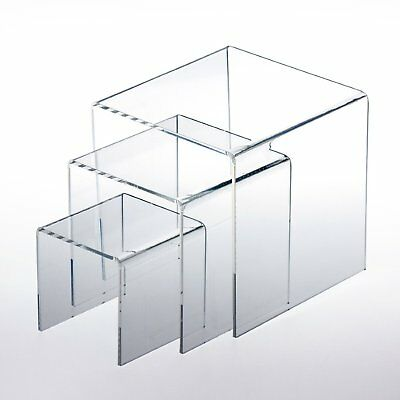 Clear Acrylic Riser Set Of 3 Displays 3 45 Retail Jewelry Display Stands