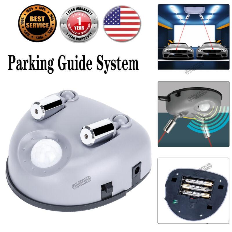 Laser Line Garage Parking Motion Sensor Aid Guide Stop Light System Dual 2 Car