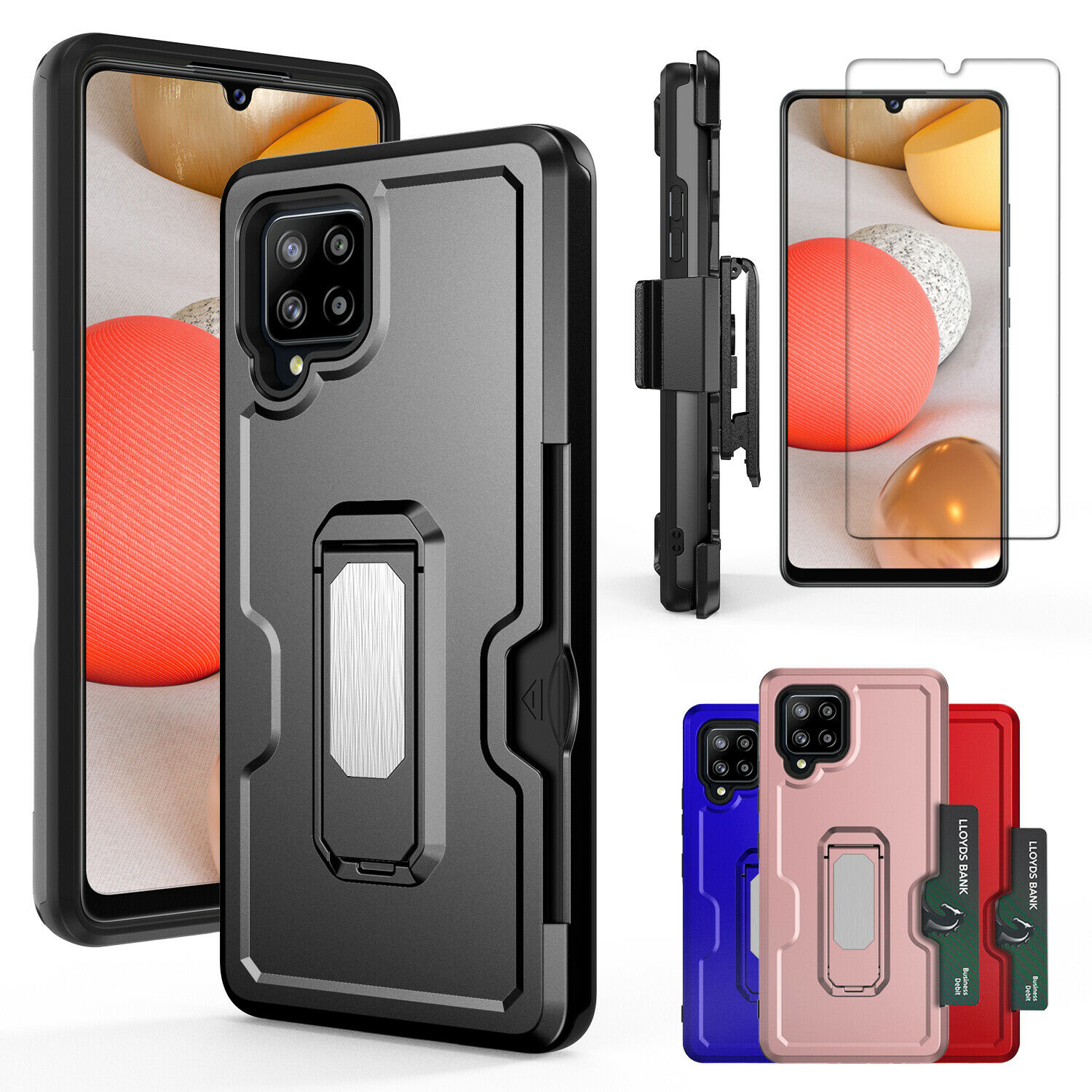 For Samsung Galaxy A42 5G Armor Case Stand Cover / Belt Clip / Screen Protector Cases, Covers & Skins