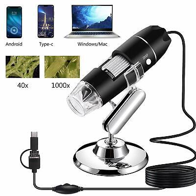 Usb Microscope 1000x Handheld Digital Microscope Camera With 8 Led Light