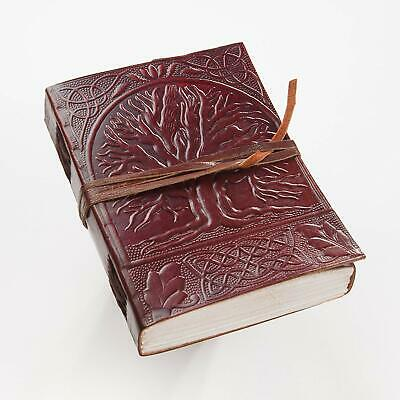 Sacred Oak Tree of Life Blank Page BOOK Handcrafted Leather Writing JOURNAL 5x7 Life Leather Journal
