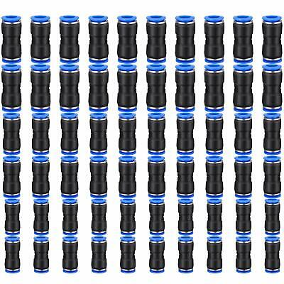 60 Pcs Straight Connectors Puch Connect Fittings Air Line Quick 14 516 38 Tub