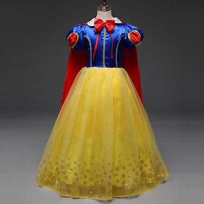 neu Snow White Prinzessin Kostüm Kinder Mädchen Party Halloween Karneval - Mädchen Snow White Prinzessin Kostüm