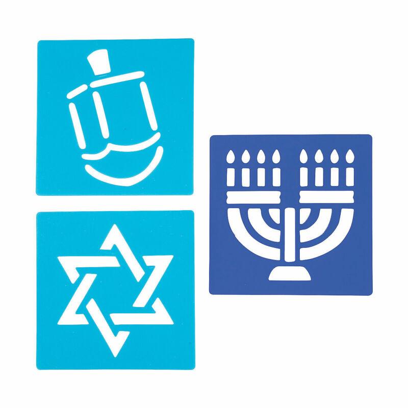 Hanukkah Stencil Set - Stationery - 12 Pieces