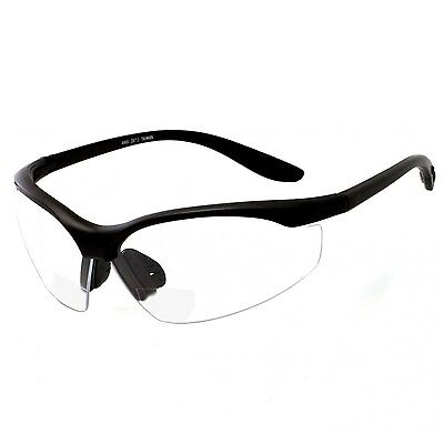 Bifocal Safety Reading Glasses Clear Reader Ansi Z87.1 Protection Shooting Power