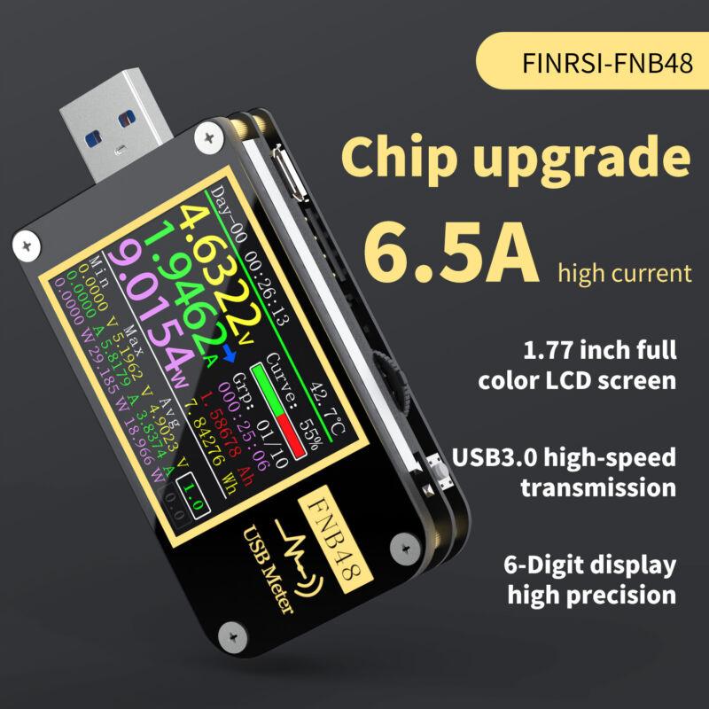 FNB48 PD Trigger Voltage Meter USB Multimeter 4-24V Volt Current Capacity Tester