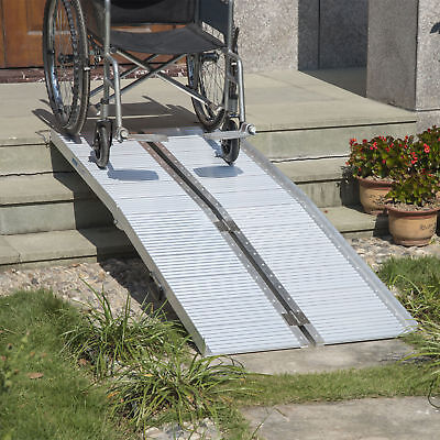 HomCom 6' Portable Ramp Aluminum Folding Mobility Scooter Wheelchair Threshold