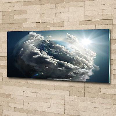 Glas-Bild Wandbilder Druck auf Glas 125x50 Weltall & Science-Fiction Planet Erde