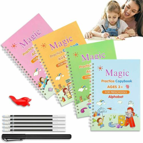 11Pcs Sank Magic Practice Copybook Set Reusable English Calligraphy Book kids