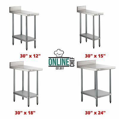 18 Gauge Nsf Stainless Steel Restaurant Kitchen Filler Table With Backsplash