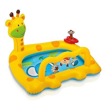 Inflatable Baby Pool Kiddie Toddler Swimming Water Outdoor Play Kids Giraffe New