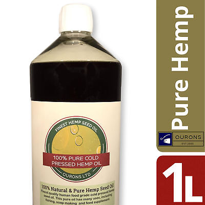 1 Litre Pure Hemp Seed Oil for Fishing 100% Pure Cold Pressed Finest Quality