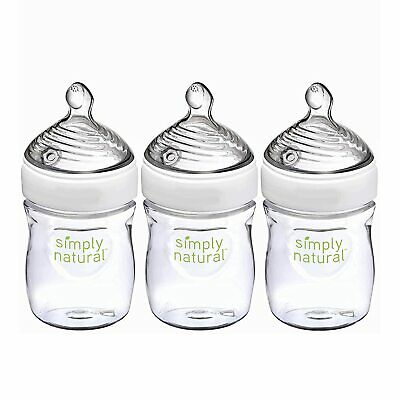 NUK Simply Natural Baby Bottles, 5 Oz, 3 Pack