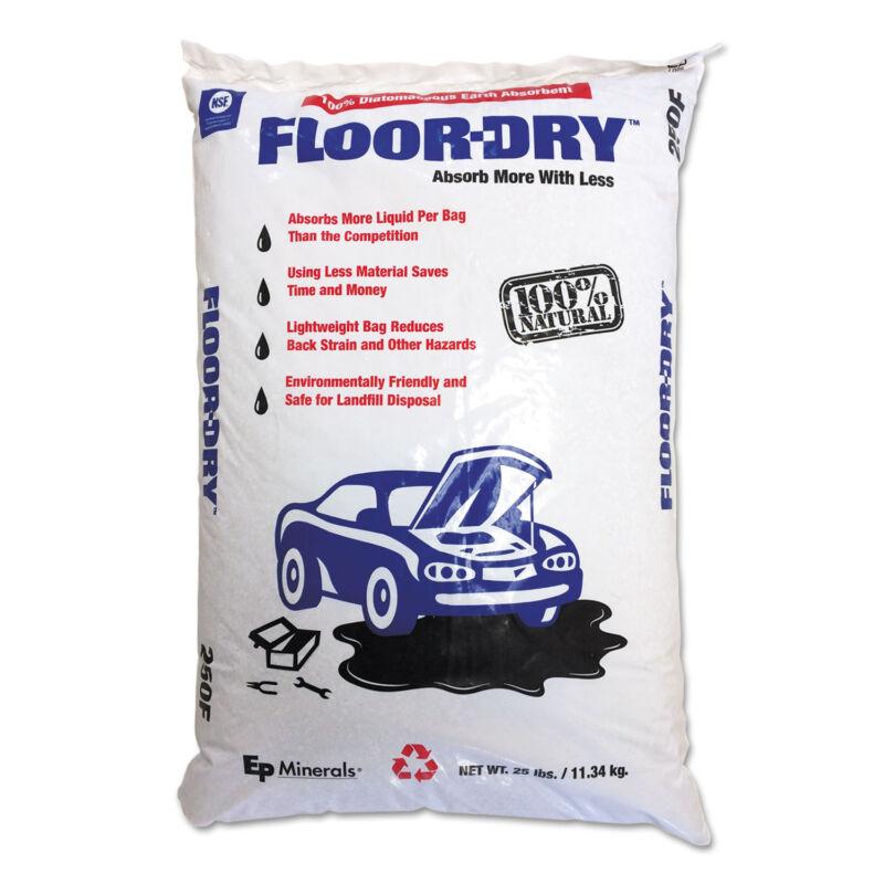 Floor-Dry DE Premium Oil Absorbent Diatomaceous Earth 25lb Poly Bag 9825