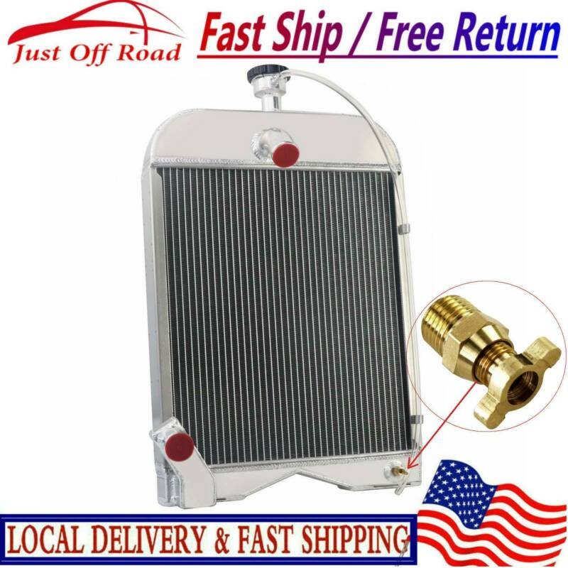 3 Row Aluminum For Ford Tractor Radiator W/ CAP For Ford 9N
