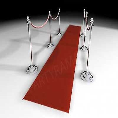 Red Carpet Runner Rug Party Aisle Floor Wedding New Feet Up Solid Events