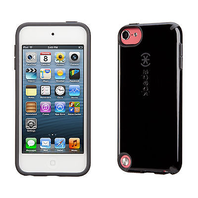 Speck Products Glossy CandyShell Case for iPod Touch 5 (Black/Slate Grey)  ()