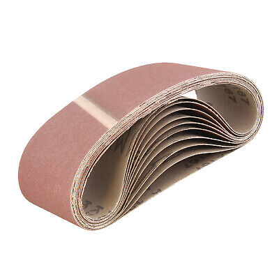 ABN | Belt Sand Paper Aluminum Oxide Sanding Belts 3x18 Inch 120 Grit 10-Pack
