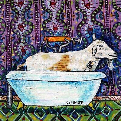 Goat Tile - Goat art, goat gifts, goat prints, goat tile, tile , coaster gift, bathroom