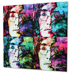 Pop Culture Clock John Lennon Decor Beatles Artwork Colorful Abstract Urban Art