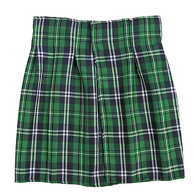 St Patricks Day Green Striped Plaid Kilt HALLOWEEN COSTUME DRESS UP UNISEX](Halloween Costume Green Dress)
