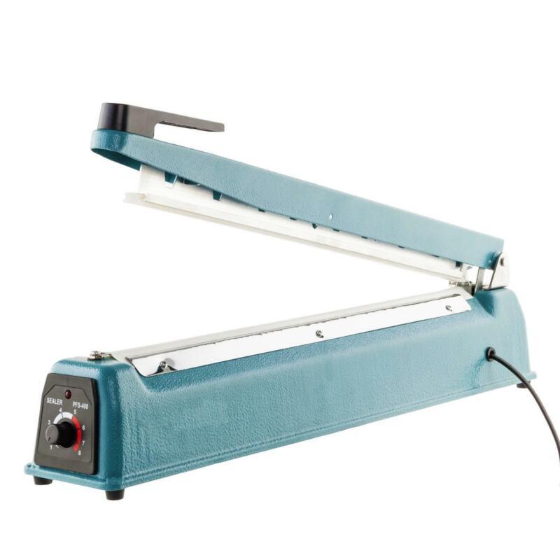 "New 16"" 600W Heat Sealing Hand Impulse Sealer Machine Plastic Sealer Light Blue"