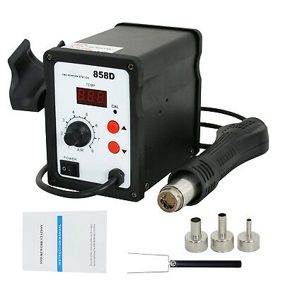 858d Soldering Rework Station Smd Solder Iron Hot Air Gun 700w
