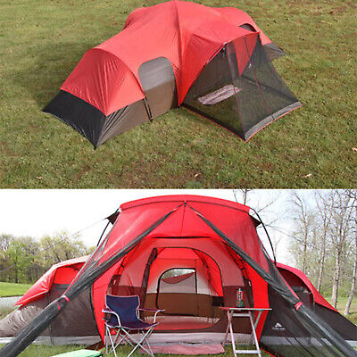 10 Person Cabin Tent - Family Camping Cabin Tent 10-Person Ozark Trail Outdoor Hiking Shelter 2 Doors