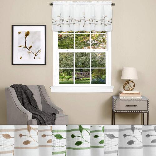 Trellis Scrolling Leaf Pattern 14″x60″ Kitchen Window Curtain Valance Cornices & Valances